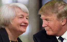 Yellen in a speech to central bankers implicitly rejected efforts by Republicans, and President Trump, to scrap the 2010 Dodd-Frank law as a threat to the economy.