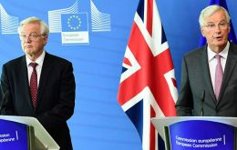 Brexit Secretary David Davis (L) &rdquo;And the sooner we remove the ambiguity, the sooner we will be in a position to discuss the future relationship and a transitional period&rdquo; Barnier said.(Pic AFP)<br />