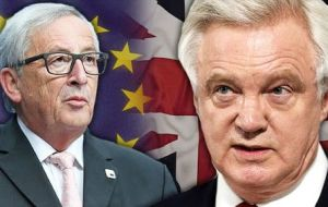 Juncker's comments are further evidence of the European Union's frustration with the approach being taken by the Prime Minister and Brexit Secretary David Davis.