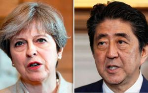 "Mrs. May is set to reiterate support for Japan and tell premier Shinzo Abe that she is ""outraged"" by Pyongyang's firing of the missile."