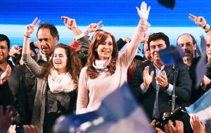 The ex president running for a Senate seat next October obtained 3.229.194 (34.27%) votes of the 9.5 million cast in the province of Buenos Aires.