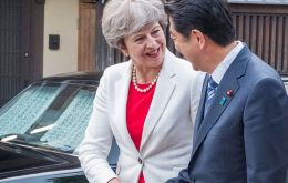 May and Abe will agree on a joint declaration on security cooperation, including plans for British soldiers to take part in military exercises on Japanese soil