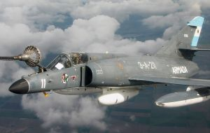 Another option is to invest an estimated 10 million dollars in the Argentine navy's Super Etandard fighter bombers to have them back in the air.