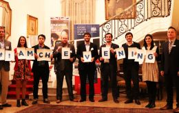Ambassador Ian Duddy hosted a reception for the Chevening scholars who will be studying in UK universities in 2017/18