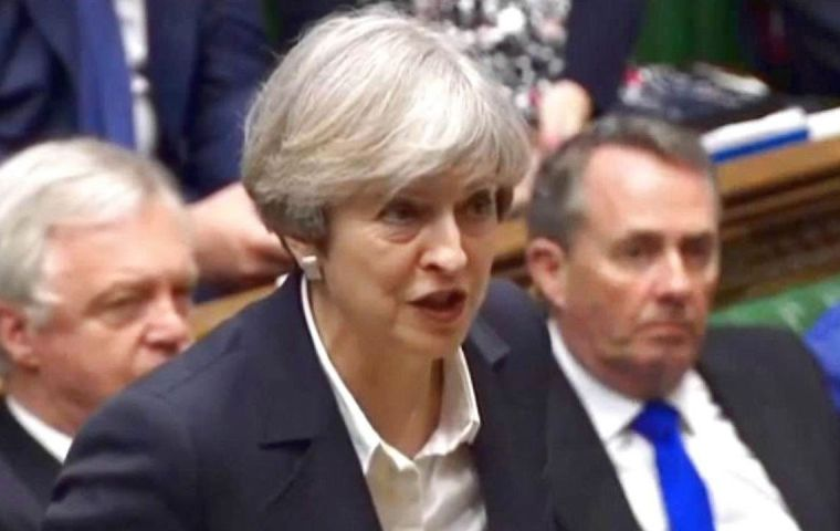 "The prime minister said the withdrawal bill was ""the single most important step we can take to prevent a cliff-edge for people and businesses""."
