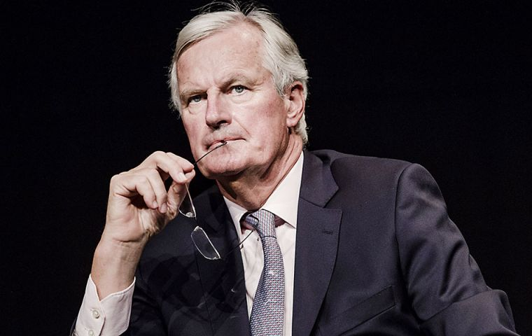 "Michel Barnier said he would never resort to blackmail but saw it as his job to ""educate"" the UK about the price it would pay for leaving the EU ""club""."