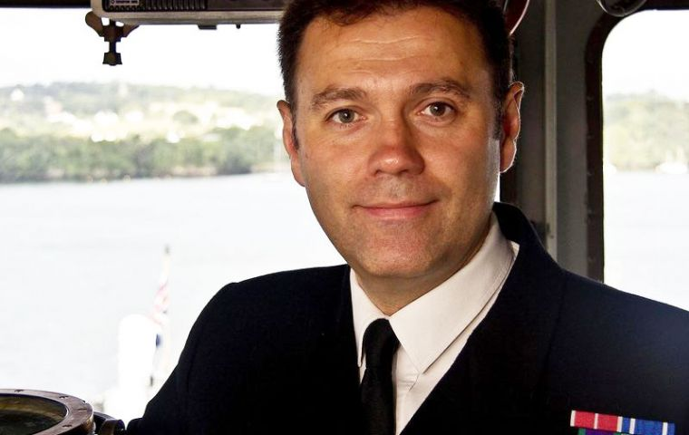Captain Moorhouse is a former Commanding Officer of HMS Ocean and HMS Lancaster, known as the 'Queen's Frigate' because HM is the ship's sponsor.