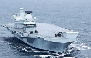 HMS Queen Elizabeth arrived in its home base of Portsmouth in August. The 280m long carrier cannot currently deploy planes but flying trials are due to begin in 2019