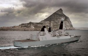 The Royal Navy is also joining the event. HMS Diamond is in Gibraltar for a short visit before heading out to the Gulf on a nine-month operational deployment.