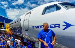 Embraer CEO Paulo Cesar de Souza e Silva, said the company intends to bring the E195-E2 to the market in 2019, before considering building a factory in China, said the company intends to bring the E19