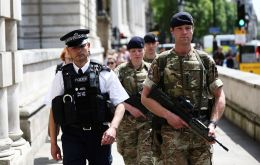 PM May said the military would be providing support to police and would replace officers on guard duty at national infrastructure sites, not accessible to the public.
