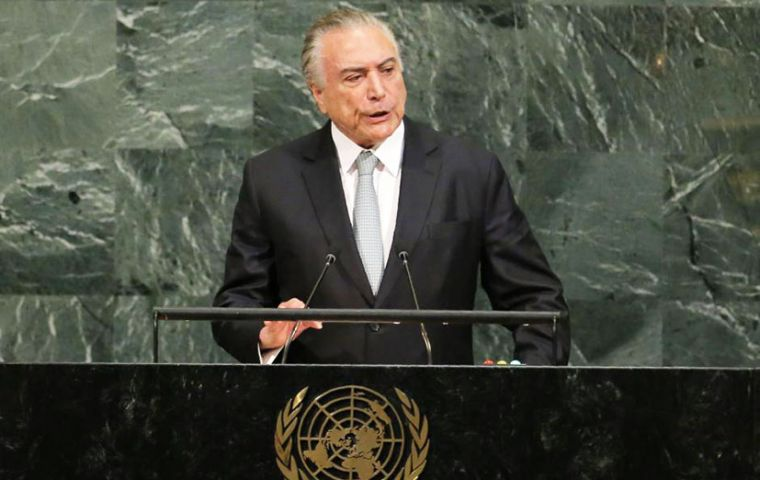 Maintaining the importance of multilateralism, Temer advocated for an expanded Security Council aligned with the reality of the twenty-first century