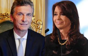 President Macri has a positive image with 44.2% of those polled in Buenos Aires province, with Cristina Fernandez trailing at 35.1%