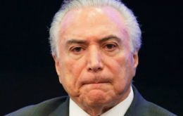 "Polling firm MDA said 3.4% of those surveyed thought the Temer government was doing a ""great or good"" job - down from 10.3% in MDA's last poll in February."