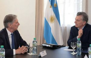 This is the second visit by a member of the UK Cabinet this year. The Chancellor of the Exchequer Philip Hammond was in Buenos Aires in August