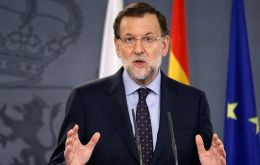 """Stop this escalation of radicalism and disobedience once and for all,"" Mariano Rajoy said in a televised statement as protesters remained in the centre of Barcelona"