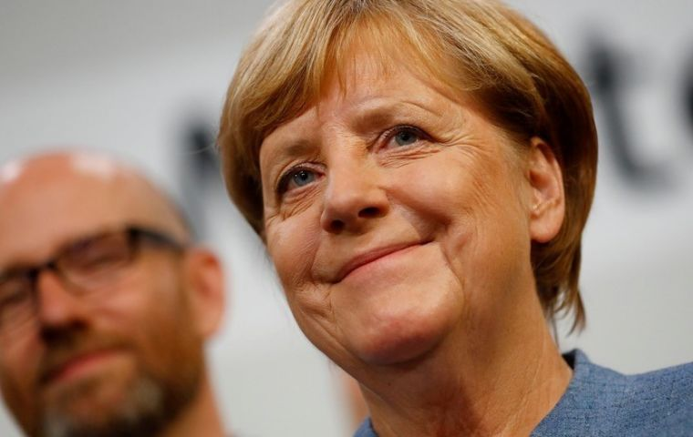 """There's a big new challenge for us, and that is the entry of the AfD in the Bundestag,"" said Merkel, adding: ""We want to win back AfD voters."""