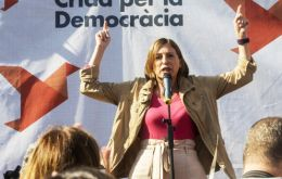 "Carme Forcadell, the speaker of Catalonia's regional parliament, told a Barcelona crowd: ""I ask you to go out and vote. Vote for the future of Catalonia."""