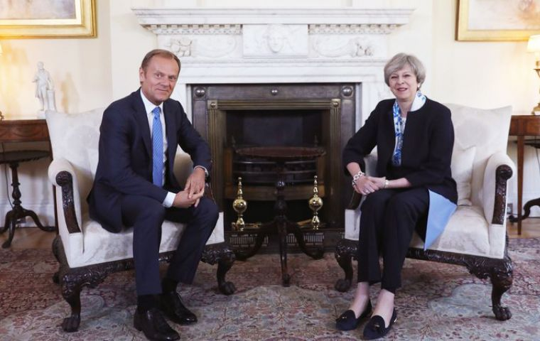 The meeting at Downing Street will be held in parallel with the fourth round of Brexit talks in Brussels.