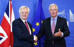 """There are no excuses for standing in the way of progress,"" Davis said in a brief statement to reporters alongside Barnier at the EC headquarters in Brussels."