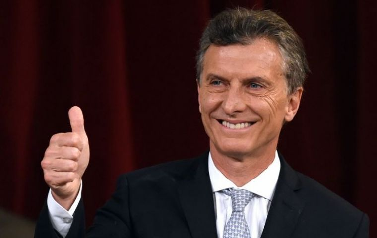 "The announcement is good news for President Mauricio Macri's ""Let's Change"" coalition ahead of mid-term congressional elections next month."