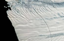 The Pine Island Glacier is one of the largest in West Antarctica, a region that is currently Antarctica's biggest ice loser. (Pic NASA)