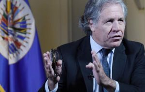 Almagro was scheduled to open the cyber-security forum organized by OAS, IDB and Canada in Montevideo