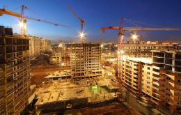 Construction is booming led by greater public spending on infrastructure projects, expanding private sector credit and rising interest from property developers