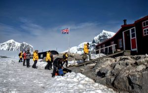 The island is deserted for most of the year but comes to life during the Antarctic summer when the trust's four staff are shipped in and thousands of tourists arrive