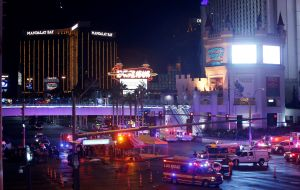 Paddock killed himself as police stormed the Mandalay Bay Hotel room where 10 guns were found. Investigators have found no link to international terrorism