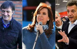 "If these projections remain steady ""Let's Change"" candidate would reach 38.26% of total votes; Cristina, 35.17%, while Sergio Massa would be falling to 11%"