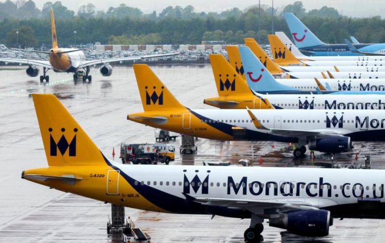 Monarch Airlines ceased trading on Monday and all future flights and holidays have been cancelled. Administrators said 1,858 workers had lost their jobs