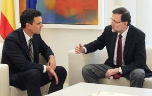 Rajoy held talks with Pedro Sánchez, leader of Spain's main opposition Socialist party, as well as Albert Rivera, the head of the centrist Ciudadanos party