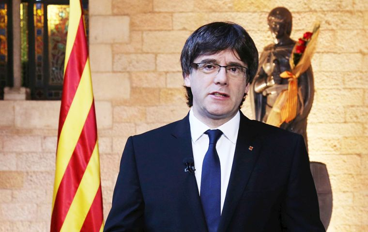 "In a BBC interview, Catalonia's President Carles Puigdemont said his government would ""act at the end of this week or the beginning of next""."