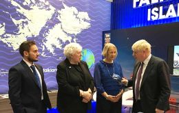 Michael Betts, MLA Jan Cheek and Sukey Cameron with Foreign Secretary Boris Johnson