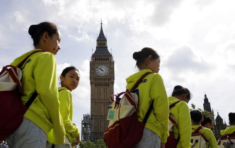 Chinese tourism to UK across the board is ballooning. VisitBritain, UK's official tourism board reported bookings from China to U.K. are up 10% year-on-year.