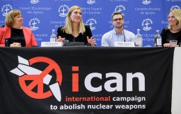 "ICAN ""has been a driving force in prevailing upon the world's nations to pledge to cooperate … in efforts to stigmatize, prohibit and eliminate nuclear weapons"""