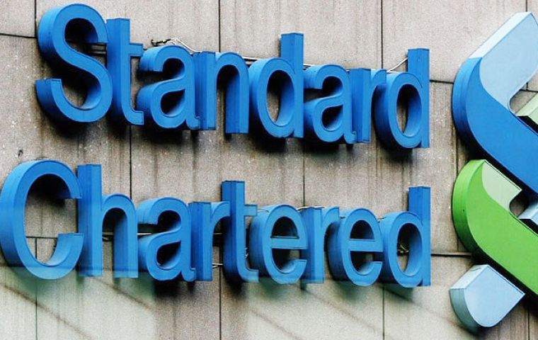 The accounts were flagged as suspicious by employees within the company, according to Bloomberg. Standard Chartered Plc said it was unable to comment.