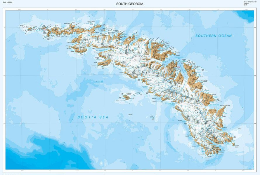 New map of South Georgia by British Antarctic Survey unveiled