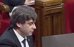 """I assume the mandate that Catalonia should become an independent state in the form of a republic …"" said Puigdemont"