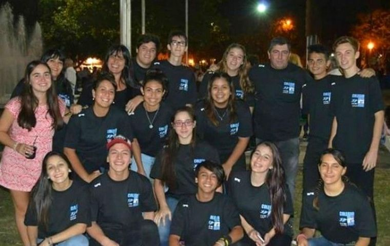 The Ensenada group of students who are scheduled to arrive in the Falklands this Saturday.