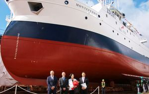 The vessel belonging to Kalamar Ltd was built at the Nodosa shipyard in Pontevedra and was launched this week.