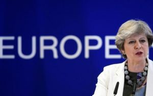 """It is vital that joint work on the peace process is not affected in any way, it is too important for that,"" said PM May in Brussels after a meeting of EU leaders."