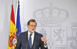 """There is no country in the world ready to allow this kind of situation within its borders, it is my wish to call elections as soon as normality is restored"" Rajoy said"