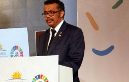 With Mugabe on hand, Tedros announced the appointment at a conference in Uruguay this week on non-communicable diseases.