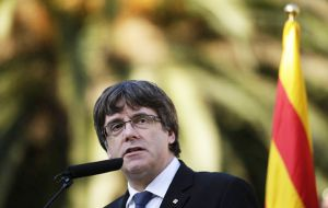 "As nearly half a million separatists took to the streets of Barcelona, Puigdemont declared Rajoy guilty of ""the worst attack on institutions and Catalan people"""
