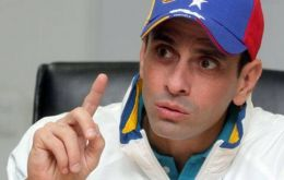 Capriles said he would not stay in the coalition as long as another prominent figure, Henry Ramos Allup, leader of the Democratic Action Party, remained.