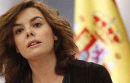"Deputy Prime Minister Soraya Sáenz de Santamaría said that Article 155 was not ""as some people have said, the start of new political centralization"""