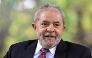 Despite Lula's popularity, his political future hangs in the balance after he was convicted of receiving bribes from a construction firm