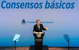 """We need lower taxes, more public works, and all this we need to achieve with fiscal balance,"" Macri told a gathering of lawmakers, governors, union leaders"